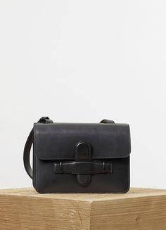 Celine Symmetrical Bag in Black Natural Calfskin