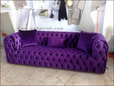 Purple couch accent piece for master bedroom Purple Home, Purple Lilac, Shades Of Purple, Deep Purple, Purple Furniture, Cool Furniture, Purple Pages, Purple Couch, Beach House Decor