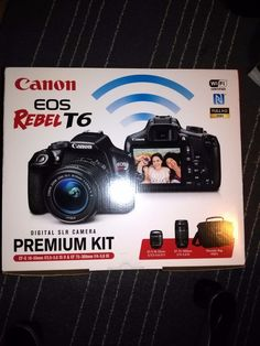 Canon EOS Rebel T6 Premium Kit Zoom Lens 18-55mm & 75-300mm Digital SLR Camera