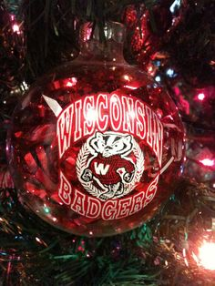 Wisconsin Ornament Wisconsin Wisconsin Christmas Ornament