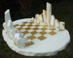 White cararra marble Buildings, Structures and Parts statues or #sculpture by #sculptor Krystyna Sargent titled: 'Chess as Art - stone henge (Carved marble Chess Set Game statue)' #art