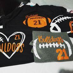 SpunkySparkles shared a new photo on Etsy - Football Football Shirt Designs, Football Mom Shirts, Vintage Football Shirts, Cheer Shirts, Team Shirts, Sports Shirts, Baseball Sister, Football Spirit, Football Cheer