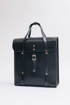 Handle Bag Vertical, große Aktentasche mit Rucksackfunktion, pflanzlich gegerbtes Leder, Lederstärke 3mm