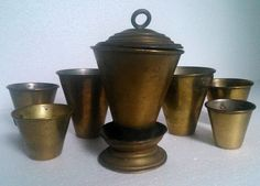 antique Romanian WW1 military army canteen cups burner field gear militaria