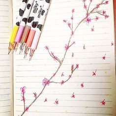 【aesthetically_breathing_moods】さんのInstagramをピンしています。 《•Cherry Blossoms• ||#cherryblossoms #sakura #art #drawing #sketch #japanese #pink #blossom #flower #peace #serenity #aesthetic #pale #tumblr #pastel || ●Drawn by me●》
