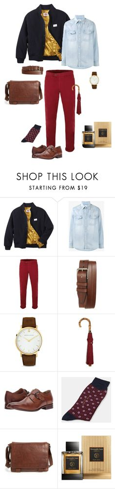 """red trousers"" by ulusia-1 ❤ liked on Polyvore featuring Twins For Peace, Visvim, Gibson, 1901, Larsson & Jennings, London Undercover, Johnston & Murphy, Ted Baker, Frye and Ermenegildo Zegna"