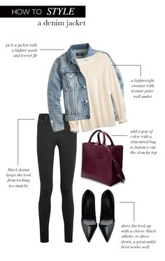 The chic way to style a denim jacket | STYLE'N