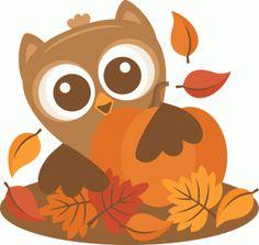 #96449: owl behind pumpkin