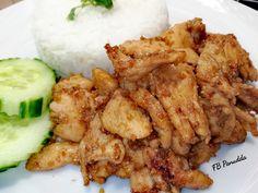 ข้าวไก่กระเทียมแบบแห้งๆ หอมๆ แต่นุ่มอร่อยมากๆค่ะ - Pantip Thai Cooking, Thai Recipes, Chicken Wings, Meat, Food, Essen, Thai Food Recipes, Meals, Yemek