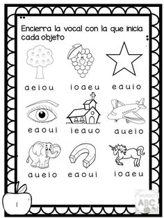 Dibujos Que Empiecen Con Vocales Para Colorear On Log Wall