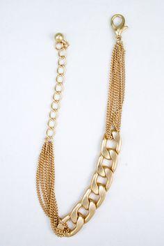 Matte Gold Chain Bracelet