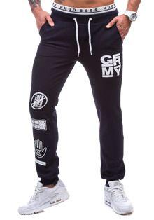 Granatowe spodnie dresowe męskie Denley 1077