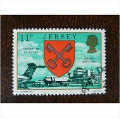 Jersey 1976 Parish Arms Views 11p Jersey Airport fine used stamp GB SG145 keys #postage#stamp