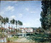 Banks of the Loing, Moret, 1892 - Alfred Sisley - www.alfredsisley.org
