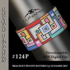 Bracelet design /pdf format/ pattern only. Create this beautiful peyote cuff bracelet. This is a DIGITAL product, no physical goods will be sent! (Materials are NOT included!) Miyuki Delica Beads size 11/0 Odd count with 10 bead colors. 33 bead columns by 95 bead rows. Width: 1,75 (4,5 cm) Length: 6.6 (16,7 cm) If you like the pattern but would like it in a different size - write me a message and Ill try to customize it. Patterns include: - Large colored numbered graph pape...