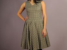 Sewing pattern, dress for a larger bust.