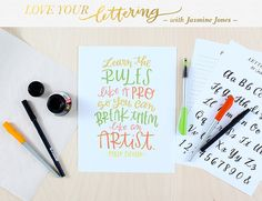 love your lettering by studio calico