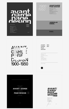 Explorations on type and avant-garde page design