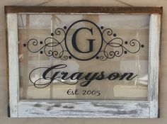 Vintage Single Pane Window Personalized by VaughnCustomCreation Personalized for you. Last Name, Family Name, Vintage Window. Housewarming GIft, Wedding Gift. Anniversary Gift.