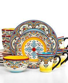 Euro Ceramica Zanzibar 16-Piece Set Zanzibar less elsewhere  $120.00