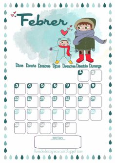 LLUVIA DE IDEAS: Descargables: Calendario de febrero Project Planner, Buenas Ideas, Diagram, Project Life, Planners, School Ideas, Projects, Printables, February Calendar
