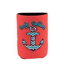 Simply Southern Coral Anchor Koozie #simplysouthern #southern #bows #anchor #koozie