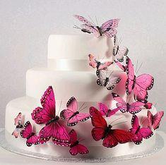 tortas de 15 años turquesa con mariposas - Buscar con Google