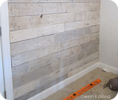 how to whitewash wood paneling - Google Search