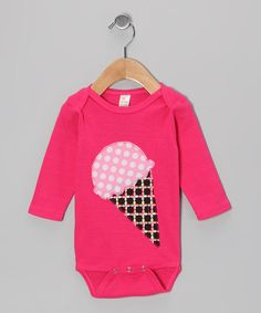 Take a look at this Fuchsia Ice Cream Cone Bodysuit - Infant by mini scraps on #zulily today!