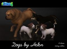 Dogs (4 items) at Helen Sims • Sims 4 Updates