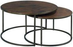Hammary Furniture Sanford Round Nesting Coffee Tables
