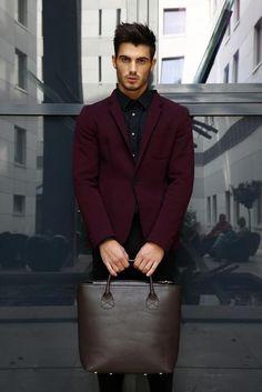 Awkward man purse but a hot looking man nonetheless lol :)