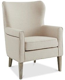 Furniture Prince Accent Chair, Quick Ship & Reviews - Furniture - Macy's Formal Living Rooms, Living Spaces, Living Room Chairs, Living Room Decor, Dining Room, Prince, Baby Room Lighting, Wing Chair, Room Lights