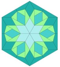 free quilt block pattern and template; english paper piecing