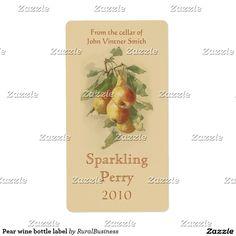 Pear wine bottle label