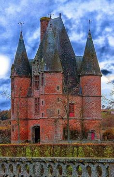 Chateau of Carrouges ~ is a chateau dating partly to the century, located in Orne, Basse Normandie in northwestern France. House of Bohemian Chateau Medieval, Medieval Castle, Beautiful Castles, Beautiful Buildings, Beautiful Places, French Castles, Château Fort, Ville France, Castle In The Sky