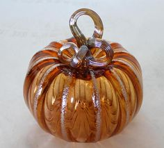 Check out our glass pumpkin selection for the very best in unique or custom, handmade pieces from our shops. Blown Glass Art, Art Of Glass, Painting Courses, Forging Metal, Glass Pumpkins, Flower Stands, Gourds, Beautiful Hands, Metal Art