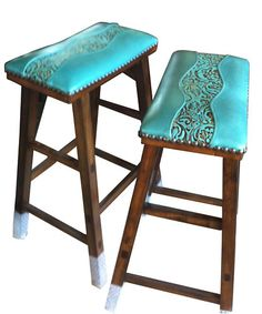 2 Cowgirl Barstools Custom Design By You! Western Style   Sold for US $375.00