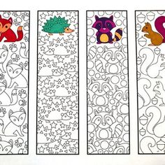 Printable Zentangle Bookmarks - Web page 4 - Scribble & Sew - Cute Animals, . Colouring Pages, Coloring Sheets, Adult Coloring, Diy And Crafts, Crafts For Kids, Arts And Crafts, Paper Crafts, Zentangle, Cute Dinosaur