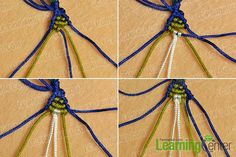 Do you guys want to make a cool braided bracelet? Then just look here, this Pandahall tutorial on how to make ethnic braided friendship bracelet with nylon thread is a perfect choice for you. Learn Embroidery, Hand Embroidery, Embroidery Designs, Friendship Bracelets Designs, Bracelet Designs, Bracelet Making, Jewelry Making, Cool Braids, How To Make Necklaces