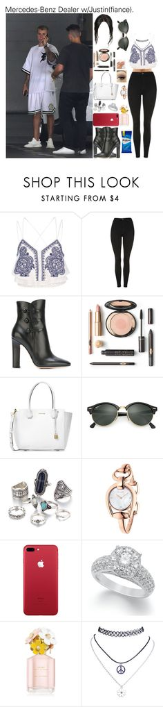 """Mercedes-Benz Dealer w/Justin(fiance)."" by tatabranquinha ❤ liked on Polyvore featuring River Island, Topshop, Gianvito Rossi, Michael Kors, Ray-Ban, Gucci, Marc Jacobs, Wet Seal, outfit and set"