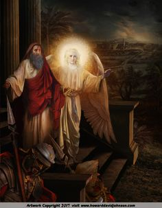 Angel Art and a brief introduction to Angelology; New Pictures of Angels by Howard David Johnson featuring oil paintings, prismacolors and digital media. Jewish Art, Catholic Art, Religious Art, Angel Pictures, Jesus Pictures, Bible Pictures, Christian Images, Christian Art, Realistic Paintings
