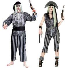 Pareja Disfraces de Piratas Fantasmas #parejas #disfraces #carnaval