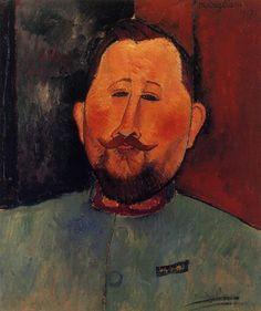 Portrait of Doctor Devaraigne : Amedeo Modigliani : Museum Art Images : Museuma