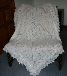 Ravelry: Estonian Lace Christening Shawl pattern by Hazel Roots