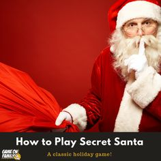 Bring Christmas magic home with unique Santa activities & Elf on the Shelf ideas! Enjoy jingle bells, candy canes, crafts, letters, movies & more! Secret Santa Game, Secret Santa Gifts, Holiday Gift Guide, Holiday Gifts, Kris Kringle Gift Ideas, Santa Games, Cadeau Surprise, Christmas Jokes, Christmas Holidays