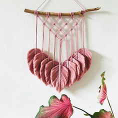 ecause sometimes, simplicity is beauty. ♥️ Lovely work by - Macrame & Needle Macrame Wall Hanging Diy, Macrame Art, Macrame Projects, Macrame Modern, Art Macramé, Macrame Design, Macrame Patterns, Boho Decor, Weaving