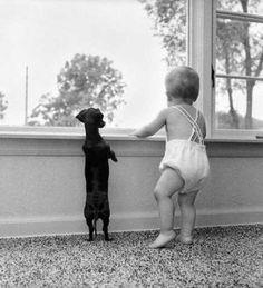 baby & puppy