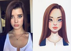 Photo vs Art: Russian Artist Turns Celebrities Into Adorable Cartoon Characters