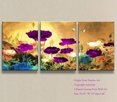 Purple wall art is funky, cute and currently trendy. You can see how popular purple home wall art décor  is on home décor shows on TV, Online and even in your own community. Additionally purple wall art is truly  charming and pretty. #purple       Canvas Print Wall Art -Stretched and Framed Giclee Prints